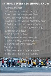 15 things every CEO should know
