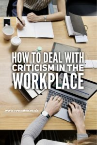 How to deal with criticism in the workplace