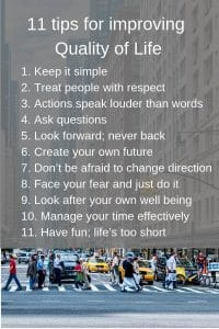 tips for improving quality of life