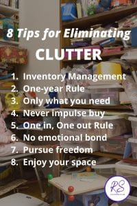 8 tips for eliminating the clutter