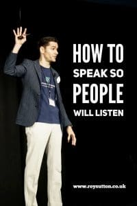 How to speak so people will listen