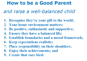 How to be a good parent